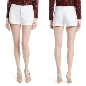 ALICE + OLIVIA Cady Cotton Blend Shorts White Sz:8